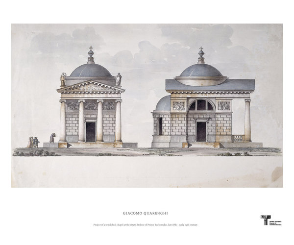Giacomo Quarenghi. Project of a sepulchral chapel